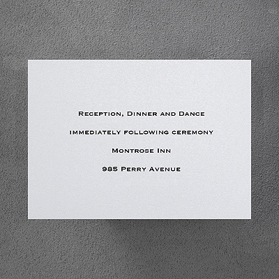 White Shimmer Reception Card