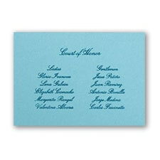 Aqua Reception Card