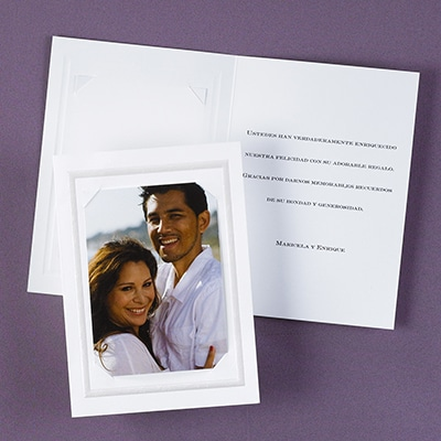 Printed Photo Thank You Card and Envelope