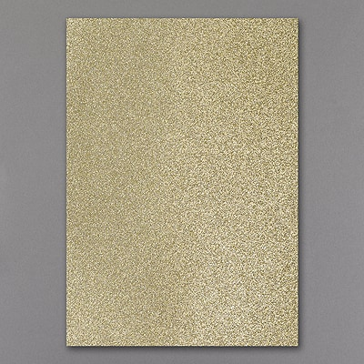 Jumbo Backer - Gold Glitter