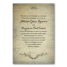 floral invitation: Rustic Charm