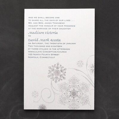 Snowflake Fantasy Invitation Wedding Invitations Carlson Craft