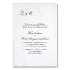 Monogram wedding invitation: So Romantic
