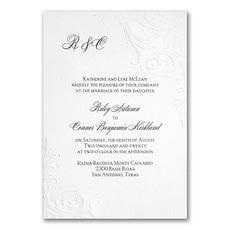 minimalist wedding invitation: So Romantic