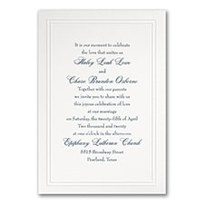 Simple wedding invitations: Refined Elegance