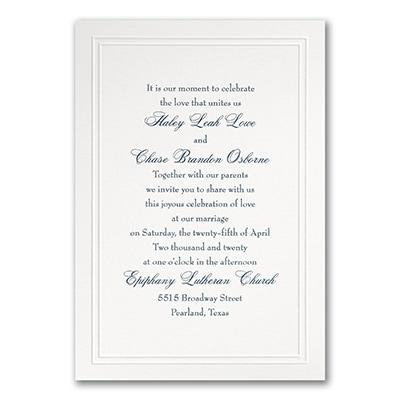 Refined Elegance - Invitation