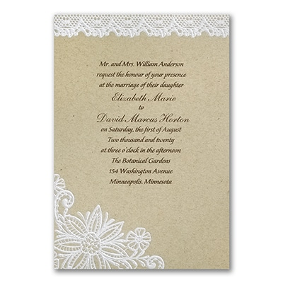 Lacy Blooms - Invitation