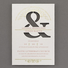 Modern wedding Invitation: Celebrate and Shine