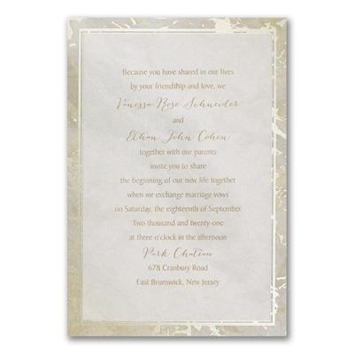 Marble Opulence Invitation