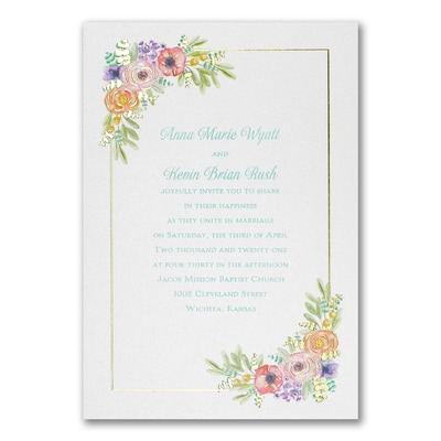 Watercolor Radiance Invitation