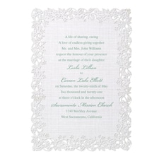 laser cut invitation: Linen Love Invitation