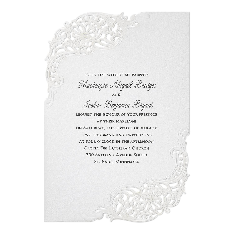 Stunning Flourish Invitation > Wedding Invitations | Carlson Craft ...