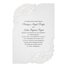 Stunning Flourish Invitation  - Pocket Invitation