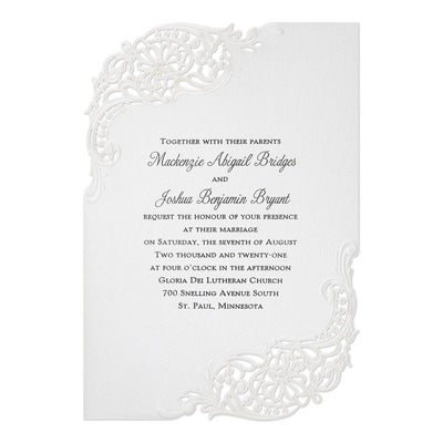 Stunning Flourish Invitation