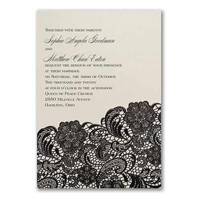 Dramatic Lace - Invitation