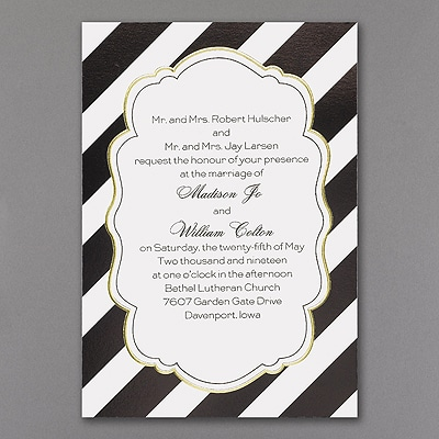 Glamorous Stripes - Invitation