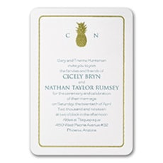 Classic Pineapple - Monogram Invitation