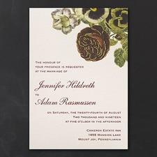 Vintage Blossoms  - vintage invitation
