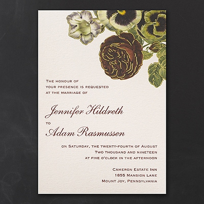 Vintage Blossoms - Invitation
