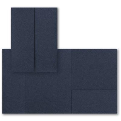 Navy Shimmer Gatefold Pocket