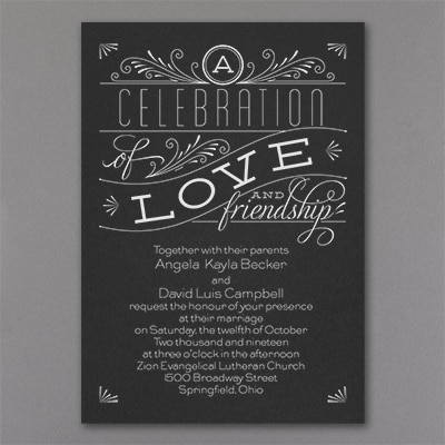 Grand Celebration - Invitation - Black