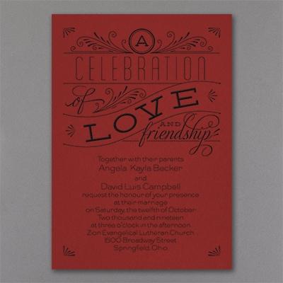 Grand Celebration - Invitation - Claret