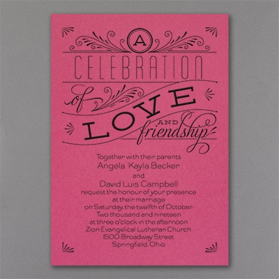 Grand Celebration - Invitation - Fuchsia