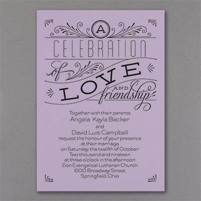 Grand Celebration - Invitation - Lavender