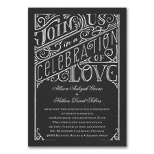 All in the Details - Invitation - Black