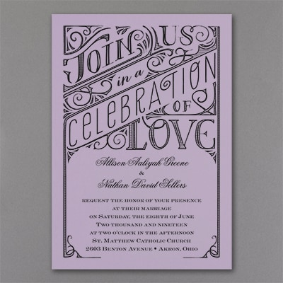 All in the Details - Invitation - Lavender