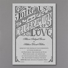 Vintage wedding invitation: All in the Details