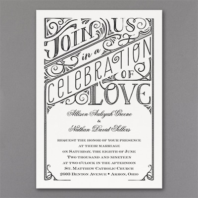 All in the Details - Invitation - White