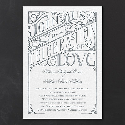 All in the Details - Invitation - White Shimmer