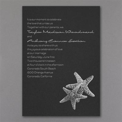 Seaside Duet - Invitation - Black