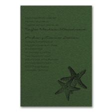Seaside Duet - Invitation - Green Shimmer