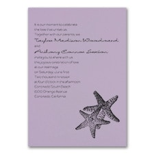 Seaside Duet - Invitation - Lavender