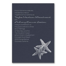 Seaside Duet - Invitation - Navy