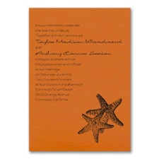 Seaside Duet - Invitation - Orange Shimmer
