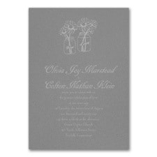 Country Daisies - Invitation - Slate