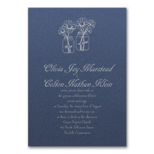 Country Daisies Invitation - Sapphire Shimmer