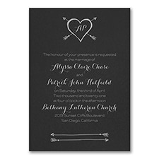 Tribute to Love - Invitation - Black