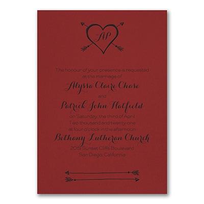 Tribute to Love - Invitation - Claret