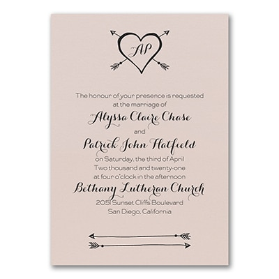 Tribute to Love - Invitation - Pastel Coral Shimmer