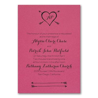 Tribute to Love - Invitation - Fuchsia
