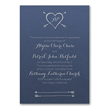 Tribute to Love Invitation - Sapphire Shimmer