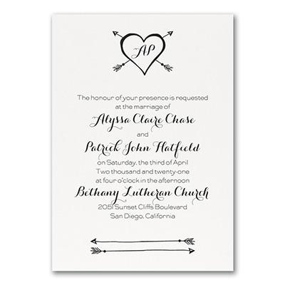 Tribute to Love - Invitation - White