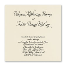 Distinctive Expressions - Wedding Invitation