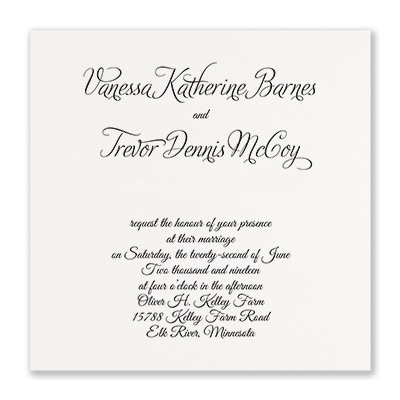 Distinctive Expressions - Invitation - White