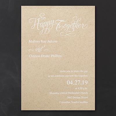 Happy Together - Invitation - Kraft