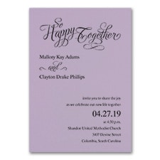 Happy Together - Invitation - Lavender